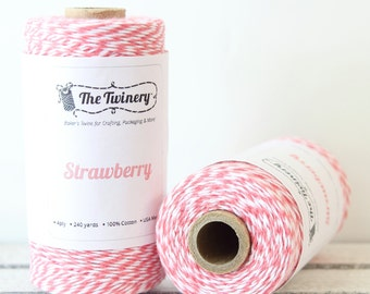 Pink Twine, Pink Bakers Twine, Craft Twine, Packaging Twine, Pink Baby Shower, Card Making, Rustic Wedding, Cotton Twine, Twinery Twine