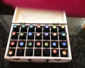 Essential Oil Holder Display Wood Box Storage use with DoTerra Young Living Organic Infusions Aromathery