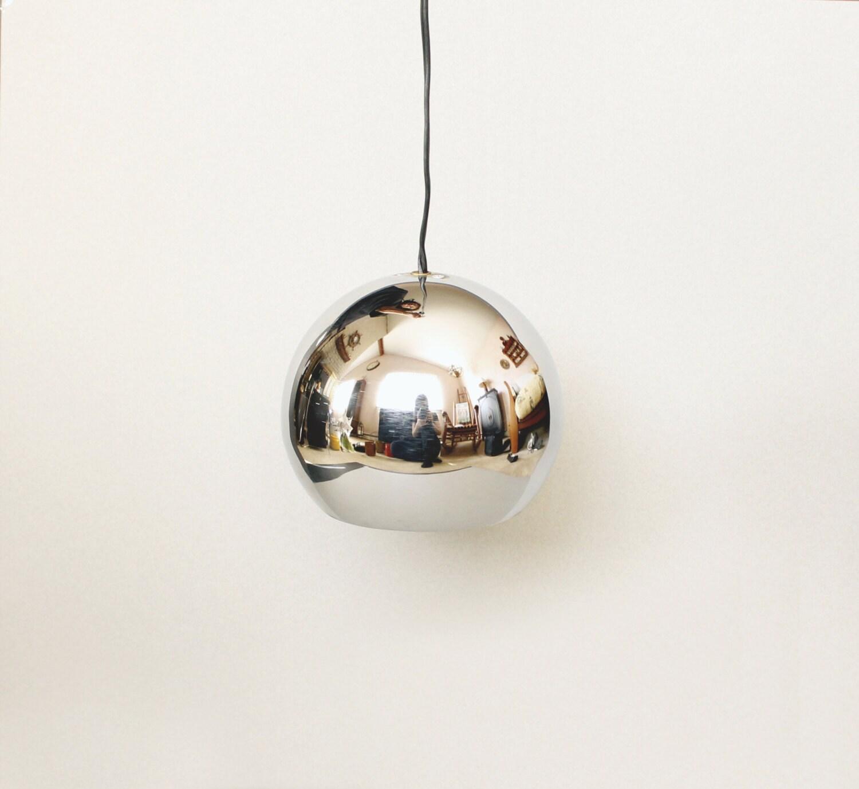 Mid Century Orb Lamp: Mid Century Modern Chrome Eyeball Pendant Light Orb Lamp