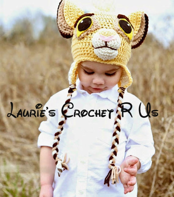 Crochet pattern Lion/Cub Simba Hat Pattern kids,adult Character Hat PDF Pattern
