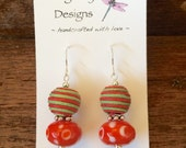 Fair Trade Upcycled Sterling Christmas Earrings