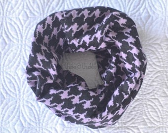 Baby scarf, Toddler Scarf, Infant Scarf Infinity Scarf, Houndstooth Scarf, Flannel Infinity Scarf, Infant/Toddler Scarf Purple Scarf