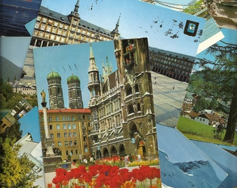 1970s-1980's Written Postcards of Europe with stamps
