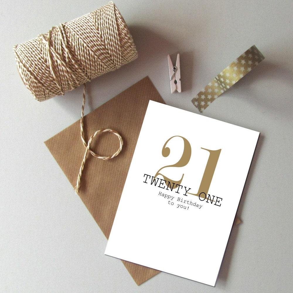 21st Birthday card Happy 21st Birthday Twenty first – Twenty First Birthday Cards