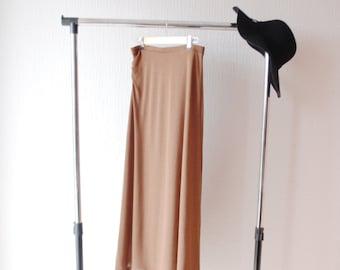 SALE knit jersey skirt ~ Brown jersey skirt ~ Winter skirt ~ Fall skirt ~ Warm skirt ~ Maxi winter skirt ~ Maxi warm skirt ~ Brown knit