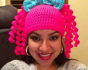 Crochet Lalaloopsy hat/wig