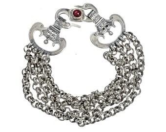 swan chains bracelet in sterling silver