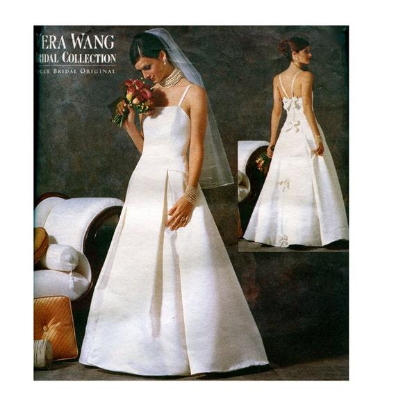 Vogue Wedding Dress Patterns: 2000s VOGUE WEDDING DRESS Patterns Vera Wang Fit & Flare