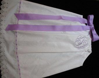Girl White Dress-Girl Personalized Dress-Girl Flower Girl Dress-Girl Easter Dress-Portraits-Weddings-Baptism-Christening-Baby Dedication