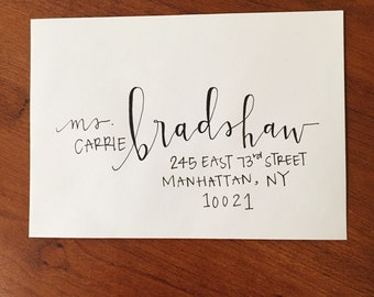 Custom Modern Calligraphy Envelope Addressing