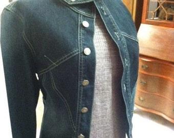 AWESOME Unique Hipster Vintage Denim Jean Jacket!