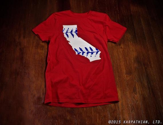 California baseball t-shirt Ladies junior fit or mens