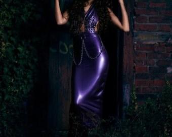 MADE TO ORDER. Daria latex dress.