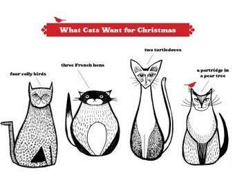 A Cat's Christmas Card