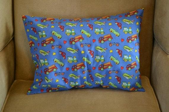 Travel Pillow Case / Child Pillow Case Various TRANSPORTATION