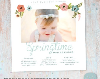 Spring Marketing Board Mini Session - Photoshop template - IE015 - INSTANT DOWNLOAD