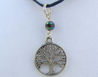 Silver Tree of Life 18in Necklace  (N147)