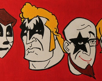 Venture Brothers as KISS Poster of Original Painting 11x17