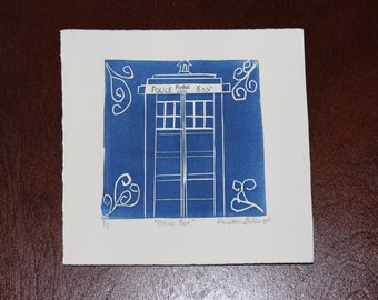 Police Box Relief Print