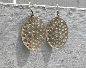 Hole Punch Brass/Gold Earrings