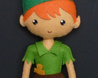 PDF pattern to make a felt Peter Pan.