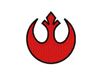 Star Wars Galaxy - REBEL ALLIANCE Logo/Insignia~ Machine Embroidery Design in 2 sizes - Instant Download ~ Banner of the Rebel Alliance