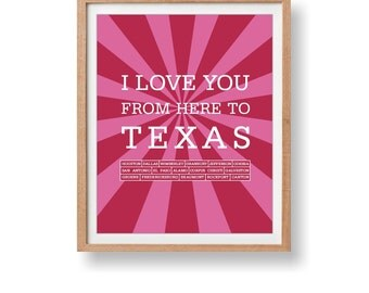Texas Art Print,Texas print,Texas Art,Texas Travel Print,Texas Travel Poster,Texas Travel Decorative Art,Texas Artwork,Texas Wall Hanging