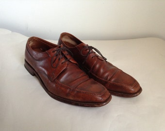 "12 - Brown Allen Edmonds ""Jackson"" Derby Shoes"