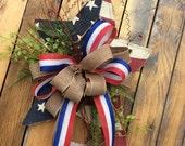 4th of july wreath, Americana Wreath, 4th of July Wreath, Burlap Star, Burlap Americana Wreath, Fourth of July Wreath, USA Wreath, July 4th