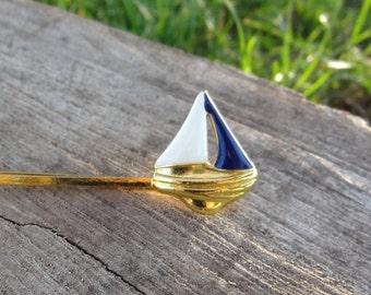 Sailboat hair clip