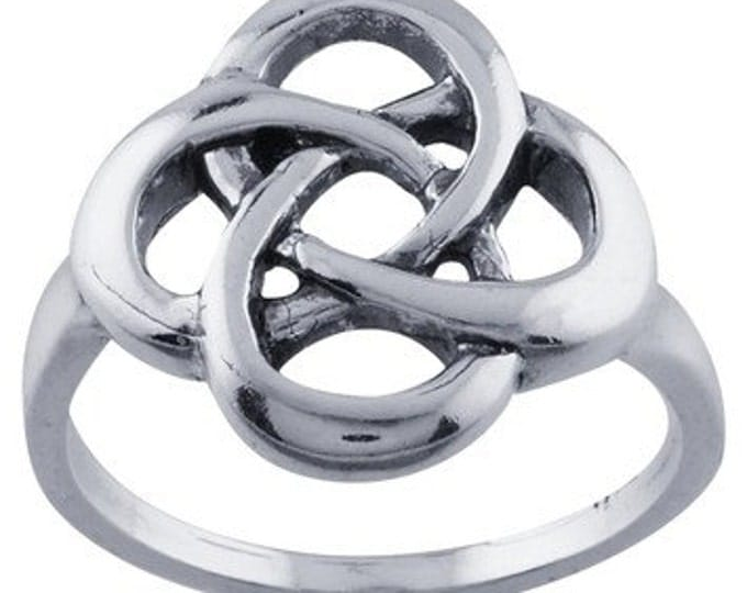 Sterling Silver Celtic Knot Ring ~ FREE SHIPPING