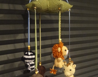 Crochet Baby Mobile: Jungle Animals