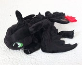 Toothless Plush Dragon - Black Night Fury Plushie - How to Train Your Dragon