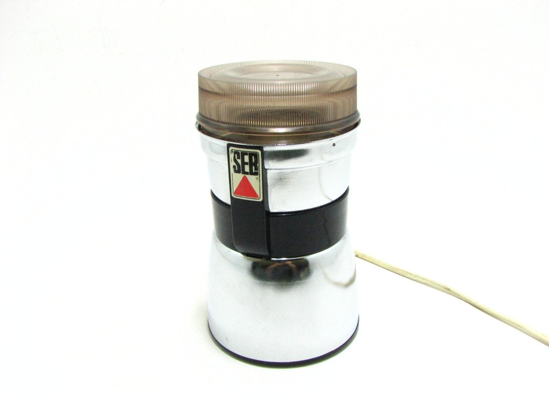 vintage seb electric coffee grinder made in france. Black Bedroom Furniture Sets. Home Design Ideas