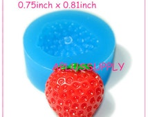 SYL043 Strawberry Silicone Moulds Cake 21mm - Cupcake Decoration Polymer Clay Fimo Polymer Clay Molds, Jewelry Mold Food Safe