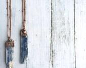 Kyanite necklace | Raw kyanite jewelry | Kyanite healing crystal necklace | Blue kyanite necklace | Kyanite mineral necklace | Kyanite stone