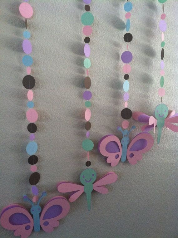 Items similar to butterfly and dragonfly baby shower for Baby shower decoration butterfly
