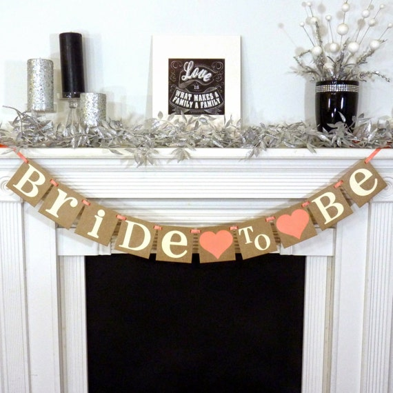 Bridal Shower Banner Bridal Shower Decor Bride To Be Banner