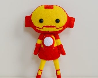 100% Acrylic Felt Iron Man Inspired Doll