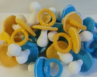 Pacifiers for crochet, single model favors or normal