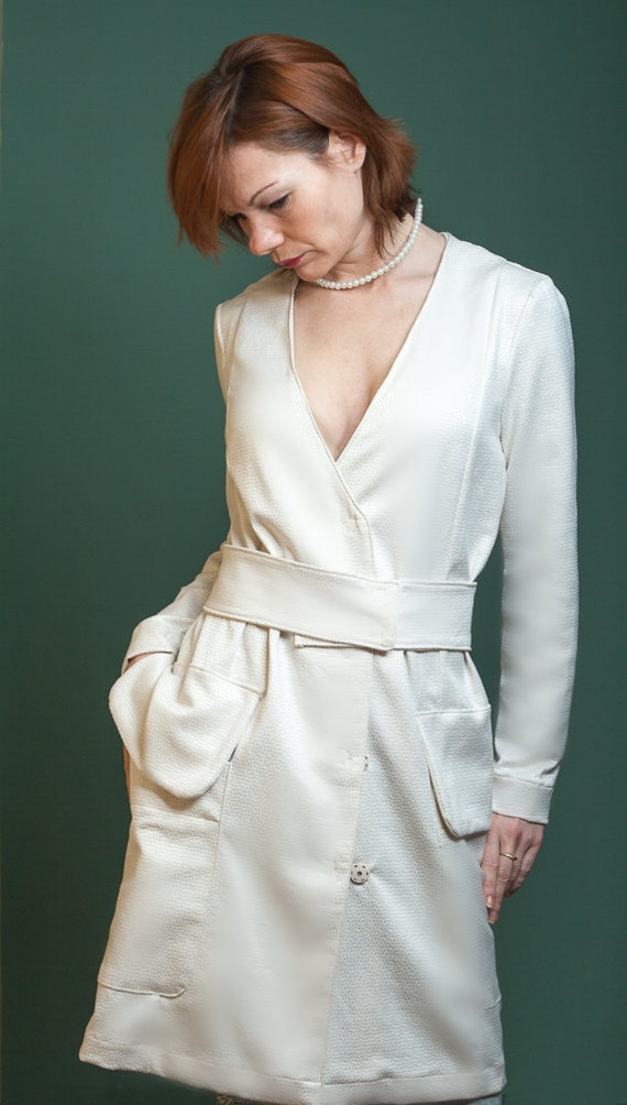 Summer coat Chloè Elegant white coat dress wedding