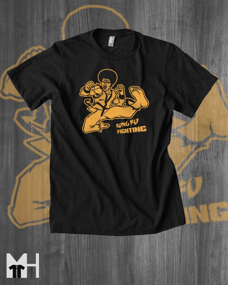 Kung fu fighting t shirt jim kelly tshirt martial arts karate for Made to order shirts online