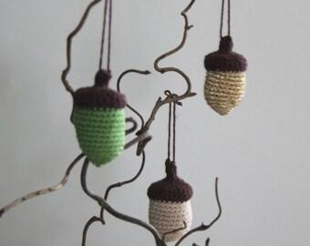 Crocheted Acorn - Pick 1