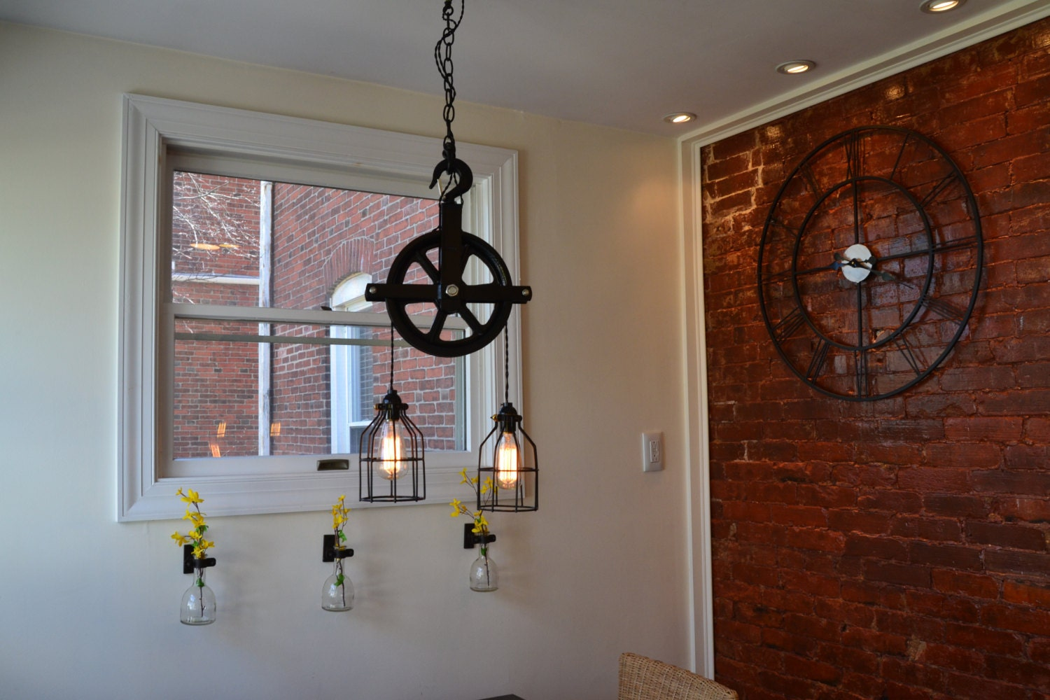 industrial pulley light barn pulley light industrial light. Black Bedroom Furniture Sets. Home Design Ideas