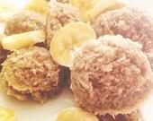Organic Banana Coconut Macaroons / Gluten Free / Vegan / Raw / Low Carb / Paleo Friendly