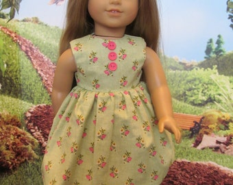 18'' Doll Sping and Summer Dress, Hand Made to Fit 18'' Dolls, Cute Easter Dress, Party Dress, School Dress, Play Dress,Pastel Green Dress,