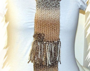 Neutral Scarf & Hat Set