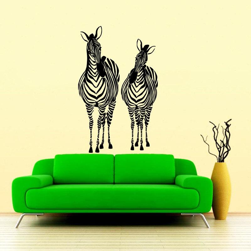 Jungle Wall Decor Stickers : Wall decals zebra animals jungle safari african by