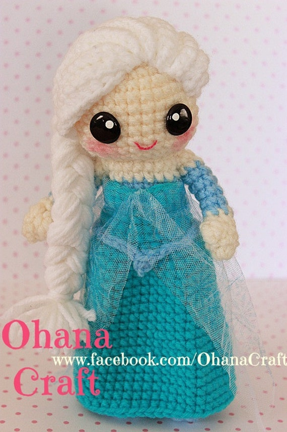 Crochet Elsa Amigurumi : Snow Queen crochet PDF pattern by OhanaCraftAmigurumi on Etsy