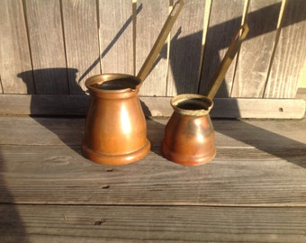 Copper Coffee Pots  Turkish style Made in Italy Nice Vintage Patina Choose your size